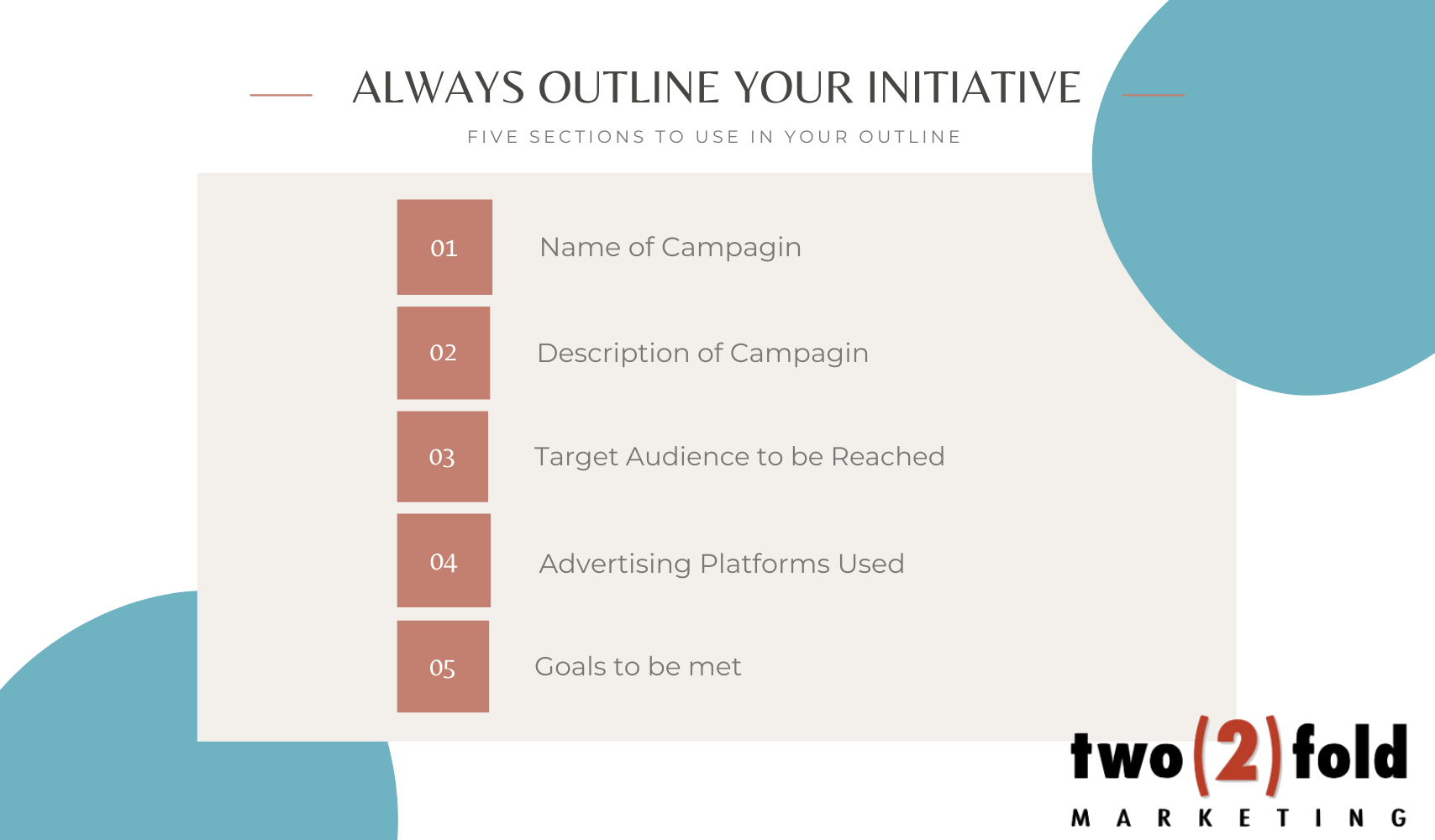 Always Outline Your Initiative